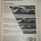 1968 Champion Spark Plugs ad featuring Chevrolets