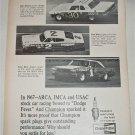 1968 Champion Spark Plugs Dodge Fever ad