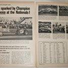 1968 Champion Spark Plugs NHRA Nationals ad