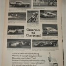 1969 Champion Spark Plugs Champions Use Champions ad