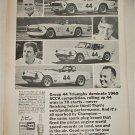 1970 Champion Spark Plugs ad featuring Triumph