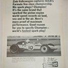 1970 Champion Spark Plugs Zink-Volkswagon ad