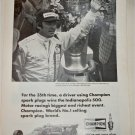1974 Champion Spark Plugs ad featuring Johnny Rutherford