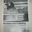 1978 Champion Spark Plugs ad featuring James Hunt