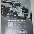 1978 Champion Spark Plugs ad featuring Al Unser