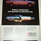 1984 Champion Spark Plugs Subaru ad