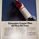 1985 Champion Copper Plus Spark Plugs ad #1