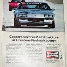 1985 Champion Copper Plus Spark Plugs Z-28 ad