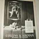 1925 Collins & Aikman Plush Auto Interiors ad