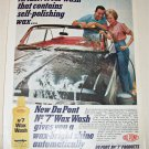 1962 Dupont No 7 Wax Wash ad
