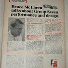1968 Fram Filters ad featuring Bruce McLaren