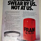 1983 Fram Oil Filter ad