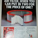 1984 Fram Air Filter ad