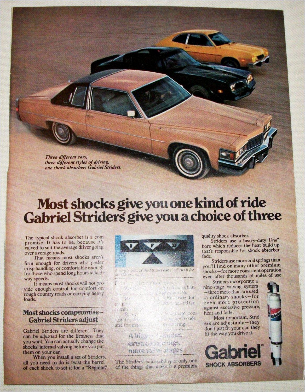 1978 Gabriel Shock Absorbers ad