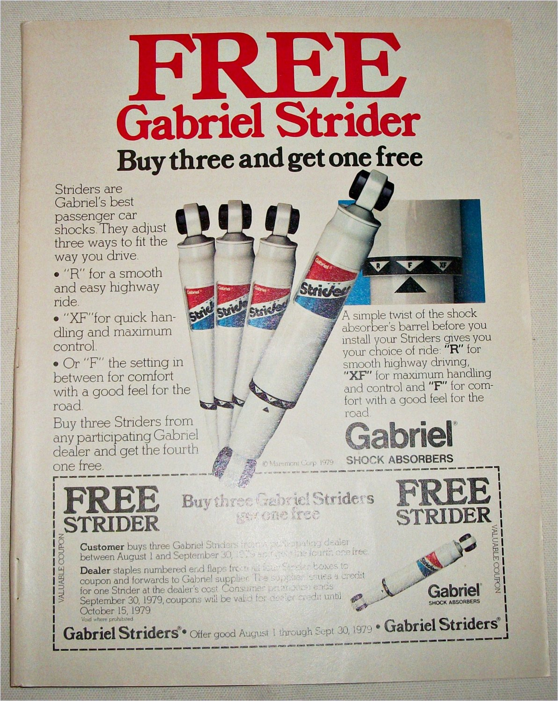 1979 Gabriel Shock Absorbers ad