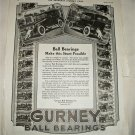 1918 Gurney Ball Bearings ad
