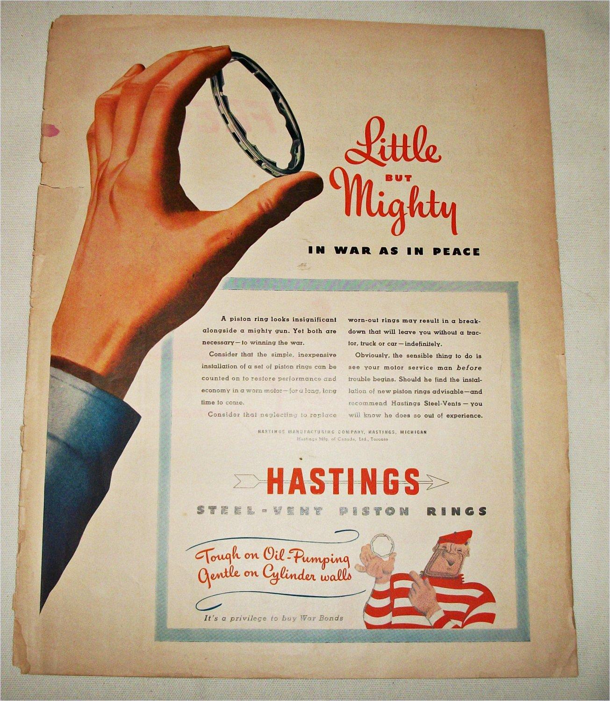 Hastings Piston Rings ad