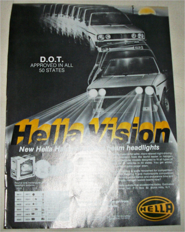 Hella Vision Headlights ad