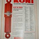 1968 Koni Shock Absorbers ad