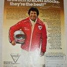 1979 Koni Shock Absorbers ad featuring Mario Andretti