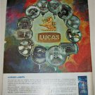 1969 Lucas Lamps ad