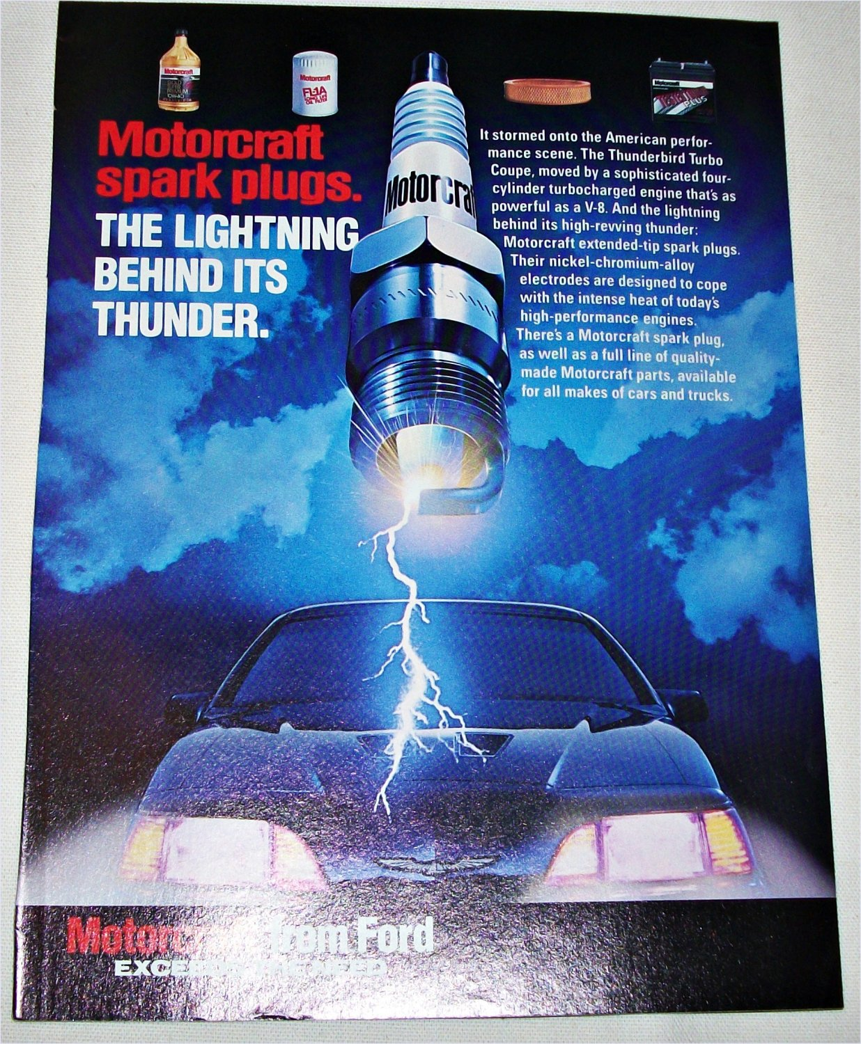 1987 Motorcraft Spark Plugs ad