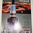 1985 Motorcraft Spark Plugs ad