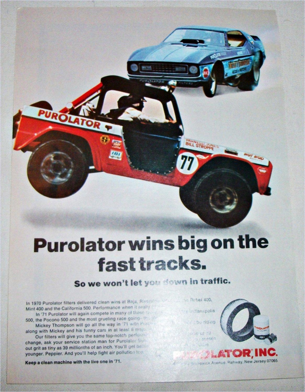 1971 Purolator Filters ad