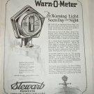 1922 Stewart Warn-O-Meter Light ad