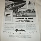 1949 Martin Aircraft Stairway to Speed ad