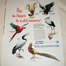 1949 Pan American Airlines Clippers Fly To All 6 Continents ad