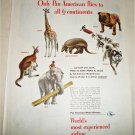 1949 Pan American Airlines Clippers Fly To All 6 Continents ad #2