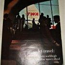 1965 TWA Airlines Jet Travel ad