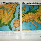 1967 TWA Airlines Atlantic River ad