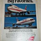TWA Airlines 747 & L-1011 Aircraft ad
