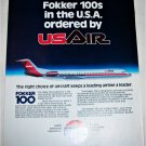 USAIR Fokker 100 Aircraft ad