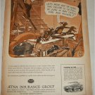 1950 Aetna Insurance Group Rats in the Cellar ad
