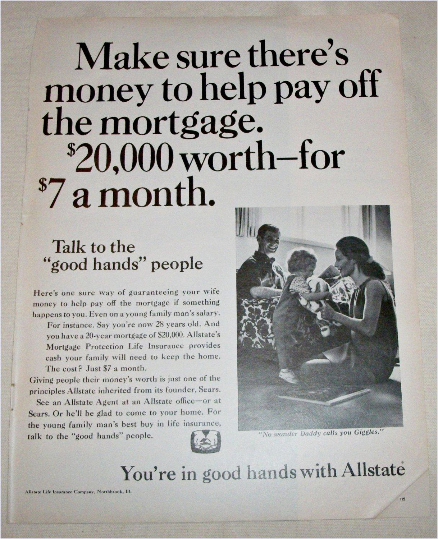 1968 Allstate Life Insurance ad