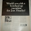 1969 American Express Travelers Cheques ad