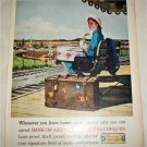 1962 Bank of America Tavelers Cheques Girl ad