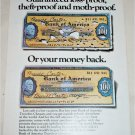 1970 Bank of America Tavelers Cheques Loss Proof ad