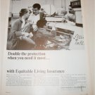1965 Equitable Life Assurance Double The Protection ad