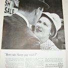1962 Full Service Bank How Can Harry Pay Cash ad