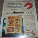 1960 Amana Model FDF-125 Refrigerator ad