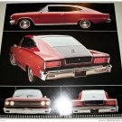 1965 AMC Marlin car print (red & black)