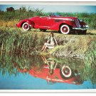 1936 Auburn 851 Boatail car print (red, no top)