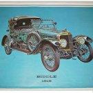 1915 Biddle Touring car print (blue, black top)