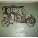 1909 Buick Touring car print (green, black top)