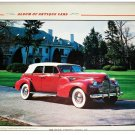 1940 Buick Limited Convertible car print (red, white top)