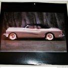 1953 Buick Skylark Convertible car print (silver, black top)
